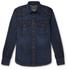 Jean Shop Garth Stretch-Denim Shirt