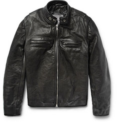 Jean Shop - Full-Grain Leather Café Racer Jacket