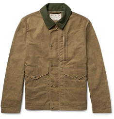 Filson Mile Marker Moleskin-Trimmed Waxed-Cotton Jacket