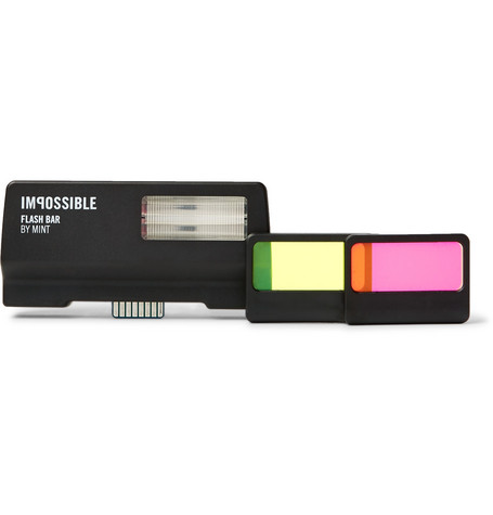 IMPOSSIBLE PROJECT Mint Polaroid Sx-70 Flash in Black