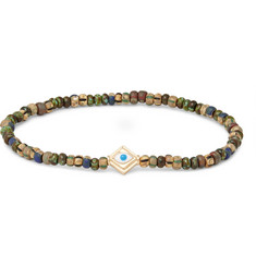 Luis Morais Glass Bead Enamelled Gold Bracelet