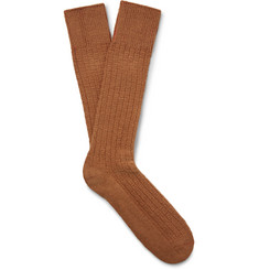 Mr. Gray Textured-Knit Socks