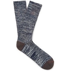 Mr. Gray Mélange Stretch-Knit Socks