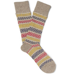 Anonymous Ism - Patterned Knitted Socks