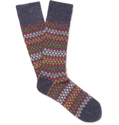 Anonymous Ism Patterned Knitted Socks