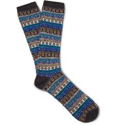 Anonymous Ism Fair Isle Knitted Socks