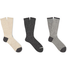 Anonymous Ism Three-Pack Knitted Socks