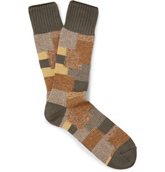 Anonymous Ism Patchwork Knitted Socks