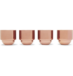 Tom Dixon Brew Set of Four Copper-Plated Espresso Cups