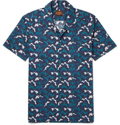 Tod's Camp-Collar Printed Cotton-Voile Shirt