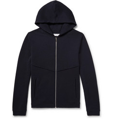 Hamilton and Hare Fleece-Back Cotton-Jersey Zip-Up Hoodie