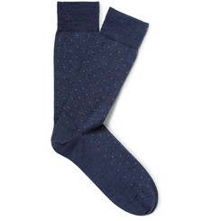 Marcoliani - Polka-Dot Merino Wool-Blend Socks