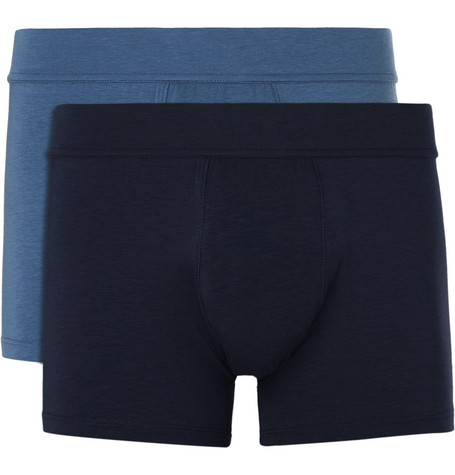 Two-pack Stretch-jersey Boxer Briefs - Blue