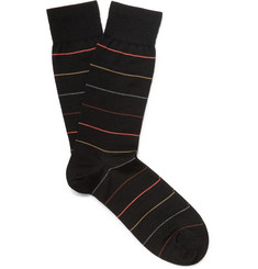 Marcoliani Striped Virgin Wool-Blend Socks