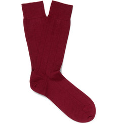 Marcoliani - Ribbed Cashmere-Blend Socks
