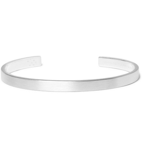 Le 15 Brushed Sterling Silver Cuff by Le Gramme