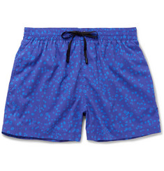 Everest Isles Anton Mid-Length Coral-Print Swim Shorts