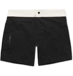 Everest Isles Draupner Slim-Fit Two-Tone Mid-Length Swim Shorts