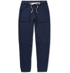 Velva Sheen Slim-Fit Tapered Loopback Cotton-Jersey Sweatpants