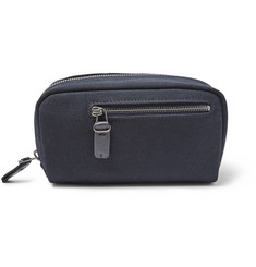 Álvaro Leather-Trimmed Canvas Wash Bag