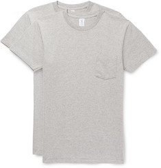 Velva Sheen Two-Pack Mélange Cotton-Blend Jersey T-Shirts