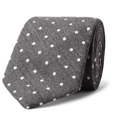 Richard James 7.5cm Polka-Dot Wool and Silk-Blend Tie