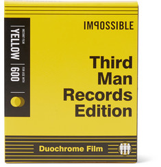 impossible Project + Third Man Records Black & Yellow Polaroid 600 Film