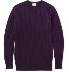 William Lockie Orwell Cable-Knit Cashmere Sweater
