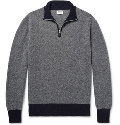 William Lockie - Birdseye Cashmere Half-Zip Sweater