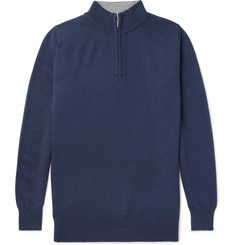 William Lockie Cashmere Half-Zip Sweater