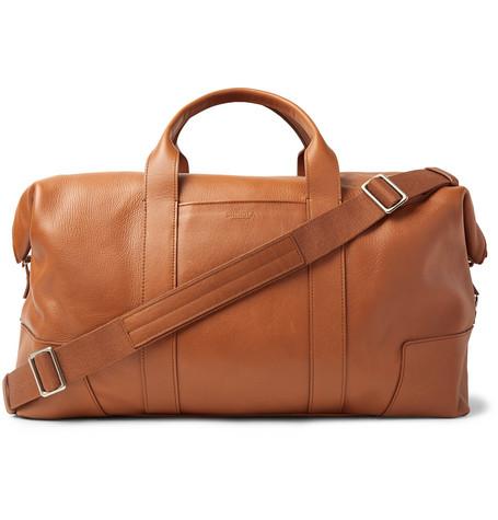 Shinola Full-Grain Leather Holdall In Tan