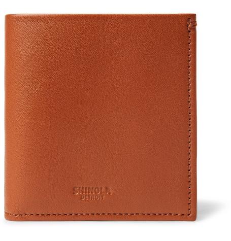 Shinola Leather Billfold Wallet In Tan