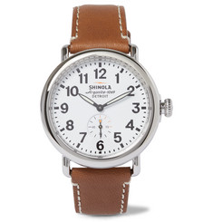 Shinola - The Runwell Stainless Steel and Leather Watch