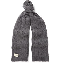 Oliver Spencer - Arbury Cable-Knit Wool-Blend Scarf