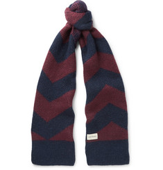 Oliver Spencer - Selby Colour-Block Wool-Blend Scarf