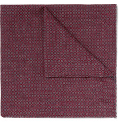 Oliver Spencer Mélange Cotton-Jacquard Pocket Square
