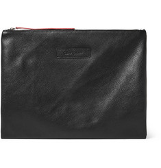 Oliver Spencer Full-Grain Leather Pouch