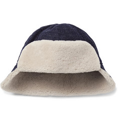 Oliver Spencer - Baker Shearling-Trimmed Wool Trapper Hat