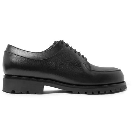 J.M. WESTON Plateau Full-Grain Leather Derby Shoes - Black