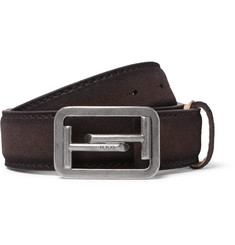 Tod's 3.5cm Brown Suede Belt