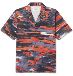 Folk + Goss Brothers Setting Sun Camp-Collar Printed Cotton-Twill Shirt