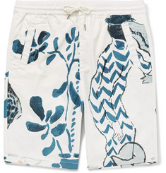 Folk + Goss Brothers Alligator Printed Cotton-Twill Shorts