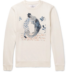 Folk + Goss Brothers Alligator Printed Loopback Cotton-Jersey Sweatshirt