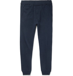 Folk + Goss Brothers Slim-Fit Tapered Printed Loopback Cotton-Jersey Sweatpants