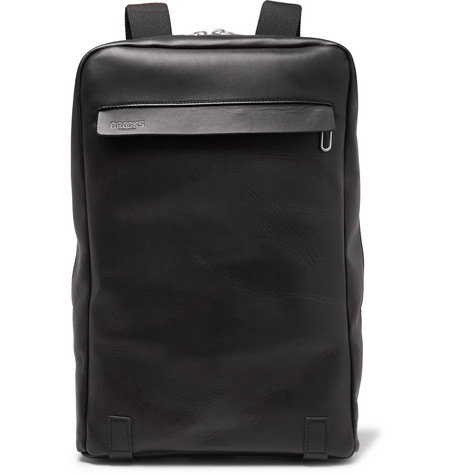 Brooks England - Pickzip Leather Backpack - Black