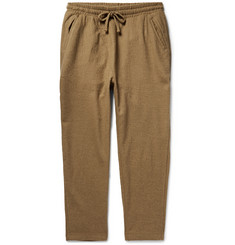 The Lost Explorer Boiled Wool and Cotton-Blend Drawstring Trousers