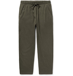 The Lost Explorer - Boiled Wool and Cotton-Blend Drawstring Trousers