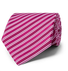 Charvet - 8.5cm Striped Silk-Jacquard Tie