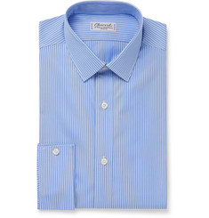 Charvet - Blue Striped Cotton-Poplin Shirt