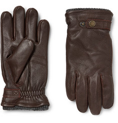 Hestra - Utsjö Fleece-Lined Full-Grain Leather and Wool-Blend Gloves